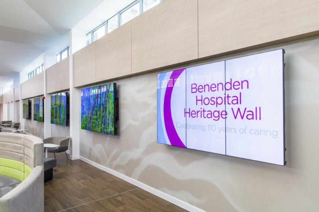 Видеостена в больнице Benenden